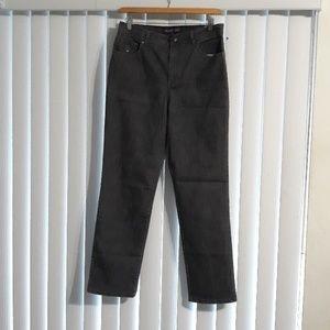 Stone washed dark grey jeans
